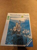 """RAVENSBURGER """"Neuschwanstein In Winter""""  1500 PIECE JIGSAW PUZZLE"""
