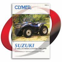 1987-1998 Suzuki LT-4WD Quad Runner Repair Manual Clymer M483-2 Service Shop