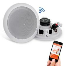 """Pyle 6.5"""" 200W 2-Way Bluetooth Surround Wall/Ceiling Home Speaker - White, Set of 2"""