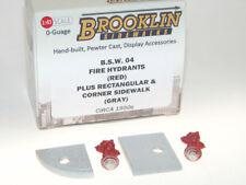 Brooklin BSW 04, 2x Fire Hydrants with Sidewalk, Hydranten + Gehwegplatten 1/43
