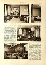 Chambre à coucher de Mustafa Kemal Pacha Atatürk à Ankara ILLUSTRATION 1932