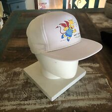 Bart Simpson 1990 Deadstock Devil Bart Dead Stock White Trucker Hat Snap Back