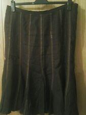 Roman originals skirt  brown linen   size 20