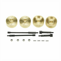 for Axial SCX24 90081 1/24 RC Crawler Car 6mm Wide Wheel Hub Brass Counterweight