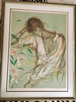 "Jacques Pecnard Orig. Lithograph ""Claudine"" Signed/Numbered"