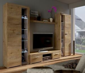 Entertainment TV Unit - White - Dark Oak - Light Oak - Tv Stand Living room set