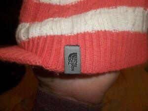 The North Face Jeep Cap Hat Toboggan Cute Warm Knit Cap w Bill TNF Made N Canada