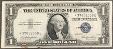 USA 1 Dollar Silver Certificate Series 1935E One STAR NOTE Banknote #8418