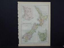 Antique Map, Blacks, 1862, New Zealand, Tasmania M7#19