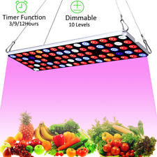 JCBritw LED Grow Light Dimmable Auto On/Off Growing Lamp for Indoor Plants 30W
