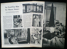 BRUNO MATHSSON SWEDISH ARCHITECT & FURNITURE DESIGNER 2pp PHOTO ARTICLE 1951
