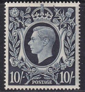 GB 1939 10s Dark Blue SG478 Mounted mint