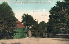 VINTAGE 1909 Rochester NY Holy Sepulchre Cemetery Entrance Printed Postcard