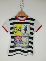 GREENWICH POLO CLUB Maglia Maniche Corte MAGLIA CASUAL T-Shirt Polo Tg M Donna