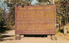 Coloma California~Gold Discovery Site Sign~1950s PC