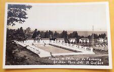 c. 1950s ST. JOHN PORT-JOLI, QC, AUBERGE DU FAUBOURG SWIMMING POOL POSTCARD RPPC