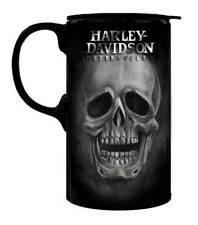 Harley Davidson Tall Boy Willie G Skull Travel Latte Mug Box Set Birthday Gift
