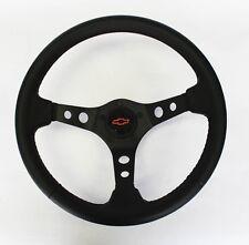 """Blazer C10 C20 C30 Truck Black Carbon Fiber Look Steering Wheel 13 3/4"""" Red/Blk"""
