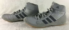 Adidas Hvc Wrestling Shoes Ac7502 Mma Ring Sparring Boxing Gray Boots Men's 7.5