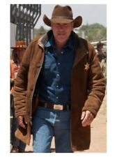 Longmire Sheriff Walt Robert Taylor Suede Leather Coat - Available In All Sizes