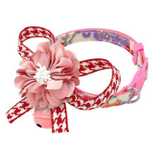 Safety Breakaway Cat Collar with Big Flower Bowknot for Kitten Kitty Adjustable