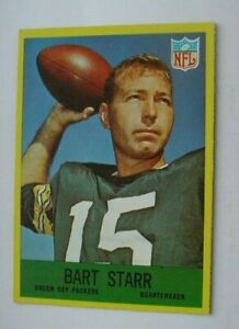 Bart Starr Green Bay Packers NFL 1967 Philadelphia Trading Card #82