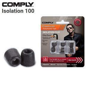 Comply Foam TX 100 200 400 500 Isolation WaxGuard 3 Pair Earphone Tips Medium CK