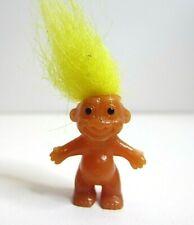 "Vintage Yellow Hair Troll Doll Tiny Mini Miniature 1"""