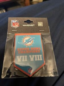 Miami Dolphins 2X Banner Magnet  NFL