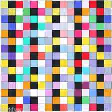 Colored Squares 12x12 inch image on Zweigart Needlepoint Canvas ready to finish
