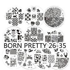 10Pcs/Set BORN PRETTY Nail Art Stamping Plates Image Stamp Template  26-35