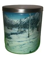 ⛄️Artist Jeff Tift trails end currier and Ives style winter scene popcorn tin❄️