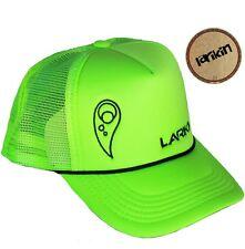 "LARIKIN ""Phil Manning"" Mens Australian Trucker Hat Cap Neon Fluorescent Green"