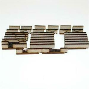 4Ground 15mm Terrain & Obstacles Stone Walls (Pre-Painted) Pack New
