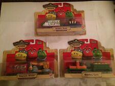 Chuggington Wood Trains Lot #195 Bubbly Koko Magnetic Wilson & Monkey Cars New!