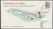 Concorde 202 G-Bbdg Middle & Far East Development Flight; 1974