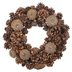 Festive Christmas Wreaths Decorative Pine Cone Door Flower Ornaments 24-34cm NEW