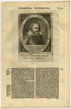 Antique Print-PHILIP WILLIAM-PRINCE OF ORANGE-Van Meteren-1614