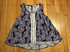90526fd13c1eb Tucker + Tate Girls Kids Floral Print Sleeveless Lace Flowy Top Size L 10/12