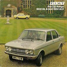 Fiat 132 1975-77 UK Market Foldout Sales Brochure 1600 1800 GL GLS