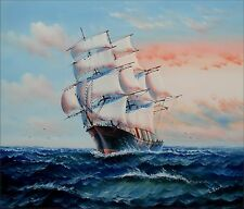 Sailing Ship 11, Quality Hand Painted Oil Painting 20x24in
