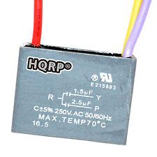 HQRP Capacitor de Motor para Harbor Breeze 1.5uf+2.5uf 3Alambres CBB61 Reemplazo
