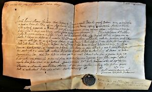 MARC ANTONIO MEMMO 91st DOGE OF VENICE BULL WITH LEAD SEAL 1614 Republik Venedig