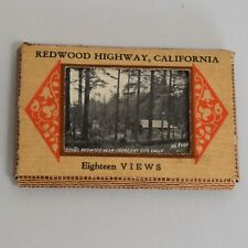 Redwood Highway CA Bardell Viewpack #7 Vintage 1930s 18 Views Miniature Photos