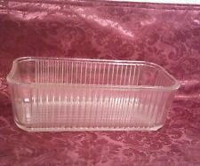 Federal Glass Clear Rectangular Ribbed Refrigerator Dish VGUC