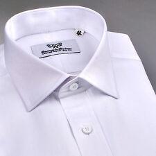 Super Sale Mens White Wrinkle Free Formal Business Dress Shirt Size XL - X Large