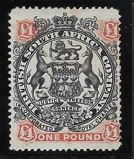 Rhodesia SG 73 £1 black and red-brown, VF unused