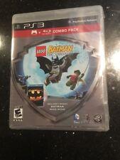 LEGO Batman Game/Batman Movie Bluray Combo Pack (SONY PlayStation 3 Sealed New