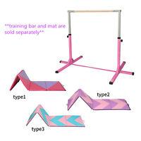 Junior Training Bar Horizontal Gymnastic Bar Indoor Sports Adjustable /Gym mat