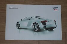 2007 softcover brochure Audi R8 pricing and specification guide UK